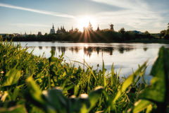 Izmaylovsky Кремль на заходе солнца moscow Россия Стоковые Фотографии RF