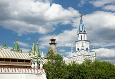 Izmaylovsky el Kremlin en Moscú Configuración rusa fotografía de archivo libre de regalías