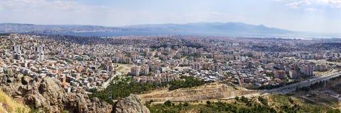 Панорамный взгляд города Izmir в 2015 Стоковые Фотографии RF