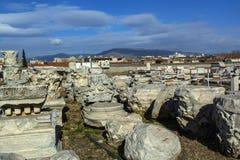 Izmir agora ancient city Stock Images