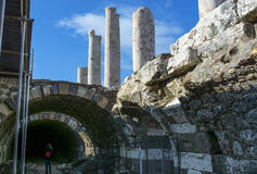 Izmir agora ancient city Royalty Free Stock Photography
