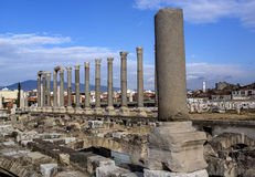 Izmir agora ancient city Stock Image