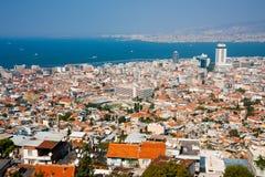Izmir, Agora in centrum, de mening van het vogelsoog Stock Afbeelding