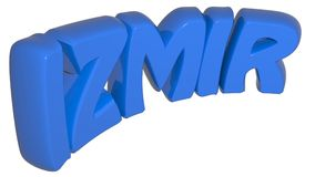 IZMIR blue write - 3D rendering Stock Photography
