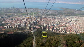 Izmir city,cable car, travel,view,  sea, sunset, turkey stock video footage