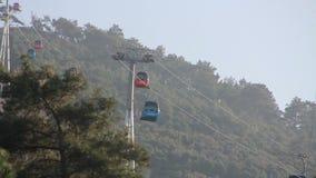 Izmir city, nature, cablecar, travel,colors,turkey stock video