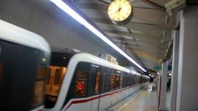 Izmir city,subway, travel,colors,turkey stock video