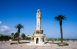 Izmir clock tower. Which was located in Konak square Stock Image