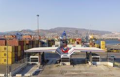 IZMIR, DIE TÜRKEI: Izmir-Hafen bei Alsancak Stockbilder