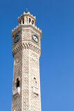 Izmir, historical clock tower over bright blue sky Royalty Free Stock Photos