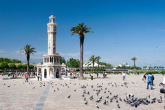 Izmir Historical clock tower Royalty Free Stock Image