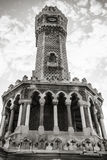 Izmir. Historical clock tower under cloudy sky Royalty Free Stock Photo