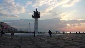 Izmir miasto, ludzie chodzi na plaży, indyk zdjęcie wideo