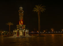 Izmir-Nachtansichten lizenzfreies stockbild