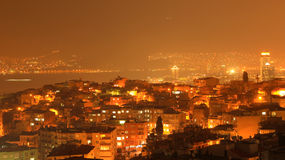 Izmir Night Wiew Stock Image