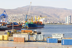 Izmir port Arkivbilder
