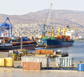 Izmir port at Alsancak Stock Images