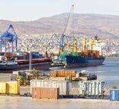 Izmir port på Alsancak Arkivbilder