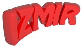 IZMIR red write - 3D rendering Stock Photos