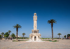 Izmir's historical clock tower Royalty Free Stock Images