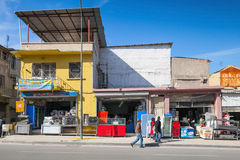 Izmir,  small markets and ordinary walking people Royalty Free Stock Photography