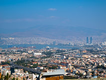 Izmir stad, port på det Aegean havet Royaltyfria Bilder