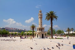 Izmir. Turkey. Clock tower. Royalty Free Stock Image