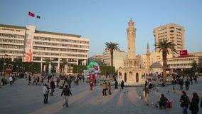 IZMIR, TURKEY - JANUARY 2013: Everyday scene on city square Stock Image