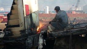 IZMIR, TURKEY - JANUARY 2013: Industrial scrapyard Stock Photography