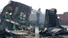 IZMIR, TURKEY - JANUARY 2013: Industrial scrapyard Royalty Free Stock Photo