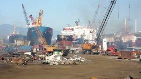 IZMIR, TURKEY - JANUARY 2013: Industrial scrapyard Stock Images