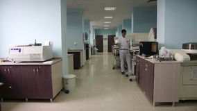 IZMIR, TURKEY - JANUARY 2013: Male scientist at work Stock Photo
