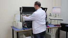 IZMIR, TURKEY - JANUARY 2013: Preparing laboratory equipment Stock Photography