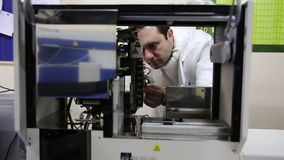IZMIR, TURKEY - JANUARY 2013: Preparing laboratory equipment Stock Images