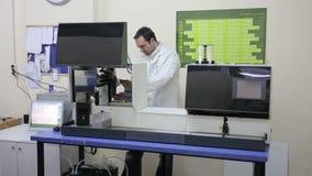 IZMIR, TURKEY - JANUARY 2013: Preparing laboratory equipment Royalty Free Stock Photography
