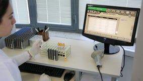 IZMIR, TURKEY - JANUARY 2013: Testing blood samples Royalty Free Stock Photos