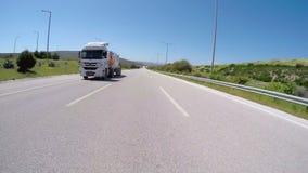 IZMIR, TURKEY - MAY 2015: Gopro traffic timelapse on road stock video
