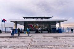 View of Izmir Alsancak ferry. Stock Photos