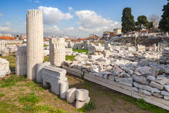 Izmir, Turkey, Ruins of Ancient Smyrna in a summer day Royalty Free Stock Images