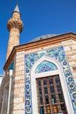 Izmir Turkiet Forntida Camii moskéfasad Arkivfoton