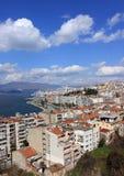 Izmirs beskådar från Asansor står hög Arkivbilder