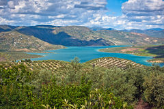 Iznajar Lake, Cordoba Province Royalty Free Stock Photography