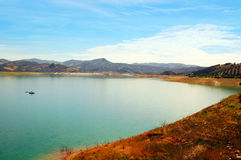 Iznajar reservoir Stock Photo
