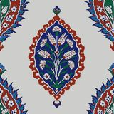 Iznik seamless pattern. Royalty Free Stock Photography