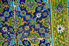Iznik Glaze Tiles. Famous Iznik glaze tiles at the courtyard of Topkapi Palace in Istanbul, Turkey Royalty Free Stock Photo