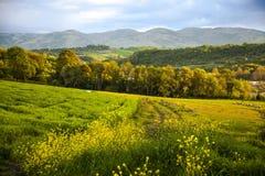 Iznik krajobraz przy zmierzchem, yalova, Turcja Fotografia Royalty Free