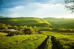 Iznik krajobraz przy zmierzchem, yalova, Turcja Fotografia Stock
