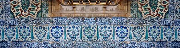 Iznik lapis  tiles with tulip Stock Image
