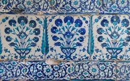 Iznik lapis  tiles with tulip Stock Photography