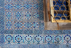 Iznik lapis  tiles with tulip Royalty Free Stock Image